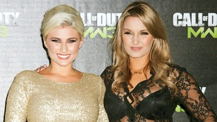 Billie and Sam Faiers arrive at the Launch of 'Call of Duty: Modern Warfare 3' at Old Billingsgate Market, London.