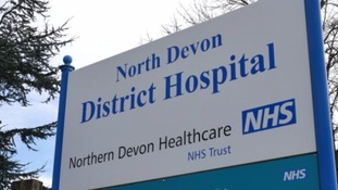 North Devon District Hospital sign