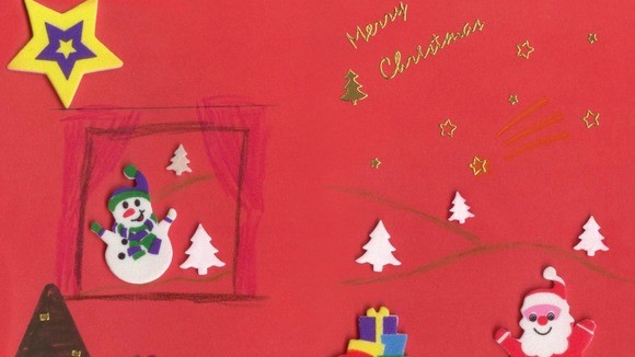A festive collage by Sheffield Children's Hospital patient Caitlin Costello, 8, that was picked by Nick Clegg for his Christmas Card.
