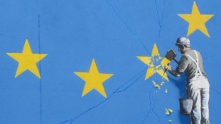 One of Banksy's most recent works addressed Brexit.