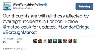 WYP Chief Constable first statement after London attack