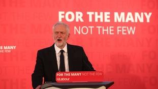 Jeremy Corbyn making a speech in Carlisle