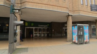 The Queensgate shopping centre in Peterborough.