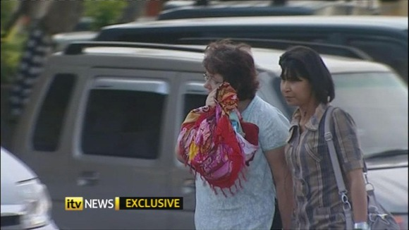 Lindsay Sandiford (right) is accused of smuggling more than £1million worth of Cocaine into Bali.