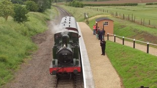 Gloucestershire steam train station reopens after 1960s closure