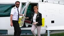 Nicola Sturgeon arrives in Hawick.