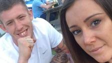 Kerri McAuley with her partner, Joe Storey.