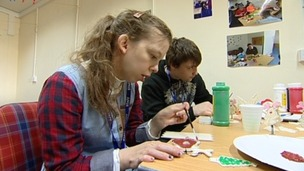 The new shop gives teenagers the opportunity to practice skills they will need in the workplace.