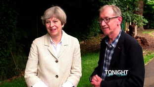 Mrs May has spoken before about the support she receives from her husband, Philip