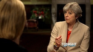 Mrs May was asked if the 'nasty party' label was coming back