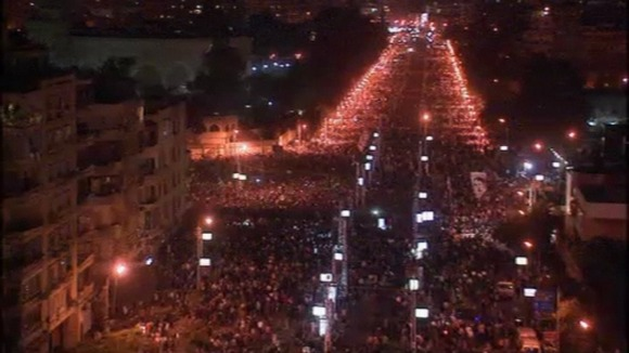 Protests in Cairo.