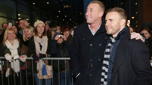 X factor's Christopher Maloney and Gary Barlow
