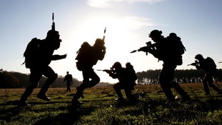 Territorial Army soldiers on exercise