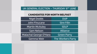 The full list of candidates for Belfast North.