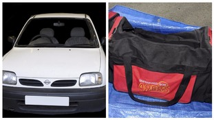 Police are appealing for information about Abedi's Nissan Micra and holdall.