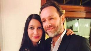 Xavier Thomas, seen with his girlfriend Christine Delcros.