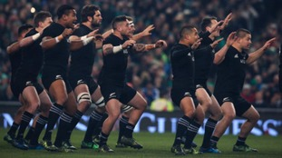 The All Blacks preforming the Haka