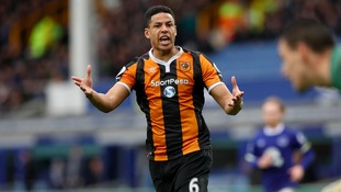 Curtis Davis waves goodbye to Hull City to join Championship rivals Derby County