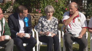 Prime Minster spent the morning at a bowling green in Southampton