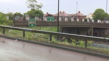 The bridge over the Coast Road on North Tyneside