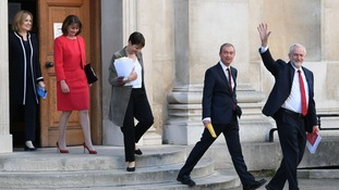 Home Secretary Amber Rudd, Plaid Cymru leader Leanne Wood, Green Party co-leader Caroline Lucas, Liberal Democrats leader Tim Farron and Labour leader Jeremy Corbyn