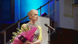 Lauren Child received the award today