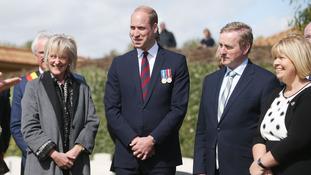 The Duke of Cambridge, Princess Astrid of Belgium and Taoiseach Enda Kenny.