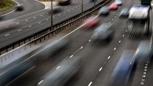 Heavy traffic on the M6 Northbound due to a broken down van