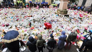 Tributes left in Manchester to the 22 people killed in the attack.