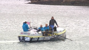 Bad weather leaves record attempt team stuck in Plymouth harbour