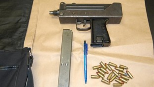 Machine gun seized by police