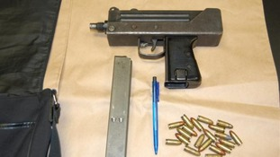 Machine gun seized
