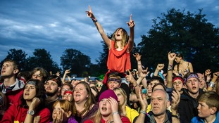 Festival-goers at Kendal Calling