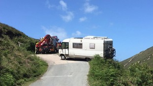 Lucky escape for campervan holidaymakers in Cornwall
