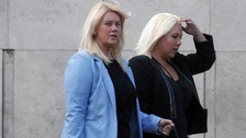 Amanda and Victoria Haslam have gone on trial after allegedly providing false information to penalty notices