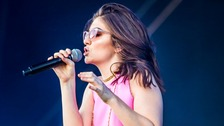 The singer performed at the recent Radio 1 Big Weekend in Hull