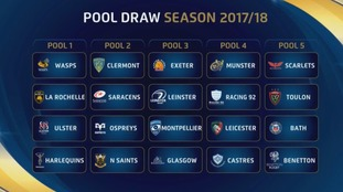 Northampton Saints have been placed in Pool two
