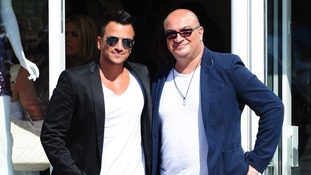 Peter Andre with his brother Andrew in September this year.