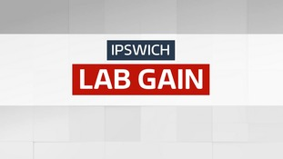 Labour have taken the Ipswich seat from the Conservatives.