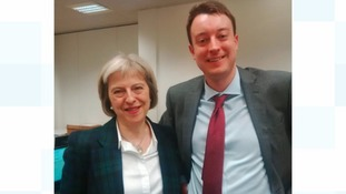 Simon Clarke with Theresa May