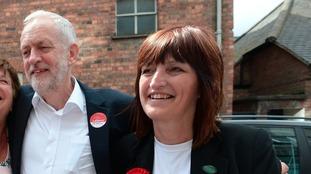 Karen Lee alongside Jeremy Corbyn