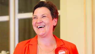 Labour's Antonia Antoniazzi after winning the Gower seat