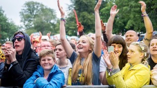 Festival goers at Kendal Calling