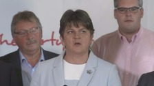 Arlene Foster spoke about the election result.