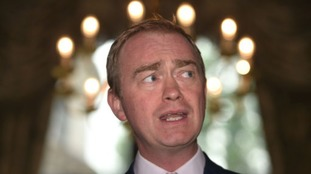 Tim Farron speaking today