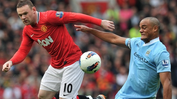 manchester derby wayne rooney vincent kompany ethiad stadium