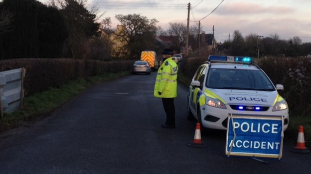 Police guard site of plane crash in Suffolk