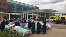 Patients and staff at The Royal Stoke hospital had to be evacuated
