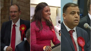 Labour gain three Tory seats in Anglia region