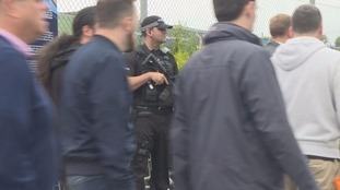 Armed police and increased security at Edgbaston cricket